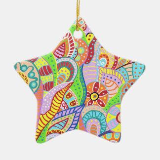 Jardin d'agrément 4 ornement étoile en céramique