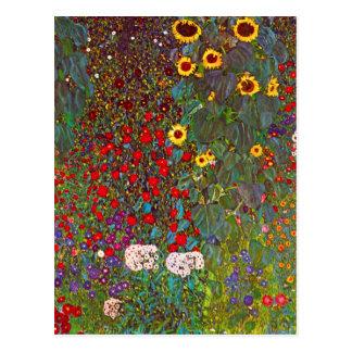Jardin de ferme de Gustav Klimt avec la carte post Carte Postale