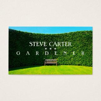 Jardinier, carte de visite de fleuriste