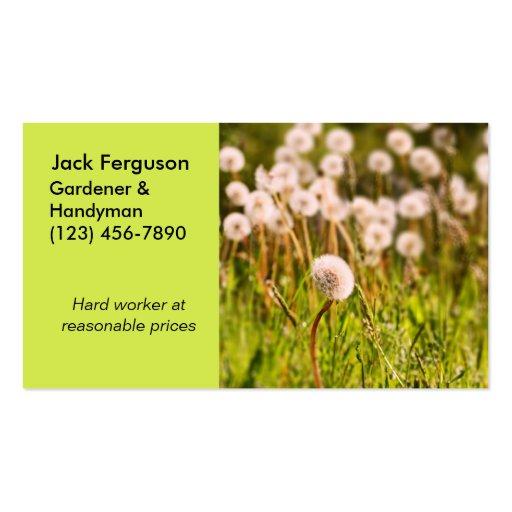 Jardinier paysagiste jardinage carte de visite standard for Jardinier paysagiste 91