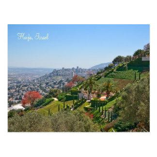 Jardins de Bahá'í de Haïfa, Israël Carte Postale