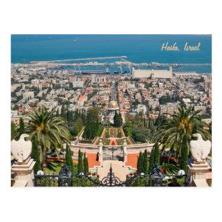 Jardins de Bahá'í de Haïfa, Israël Cartes Postales