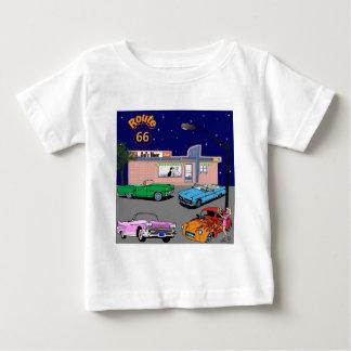 jaren '50 Diner Route 66 en Vintage Auto's Baby T Shirts