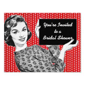 jaren '50 Vrouw met een Vrijgezellenfeest van het 10,8x13,9 Uitnodiging Kaart