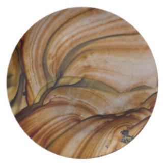 Jaspe de couleur brune de Deschutes Assiettes En Mélamine