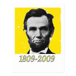 JAUNE 1809 2009 d'Abe Lincoln Carte Postale