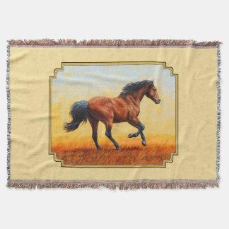 Jaune courant de cheval de baie couverture
