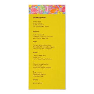 Jaune de menu de mariage de Ganesh Carton D'invitation 10,16 Cm X 23,49 Cm