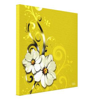 Jaune floral fleuri du Flourish | Toiles