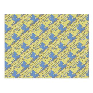 Jaune jaune canari et carte postale abstraite de