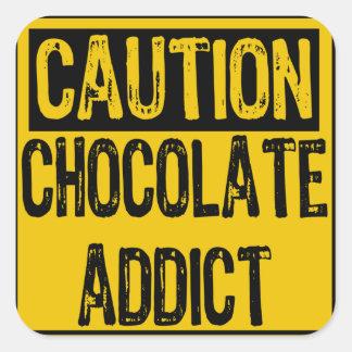 Jaune noir d intoxiqué de chocolat de signe de pré adhésifs
