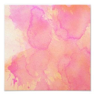 Jaune orange d'abricot de rose abstrait d'aquarell impression photo