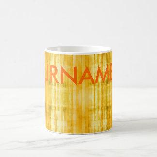 Jaune-orange votre tasse nommée d'art moderne