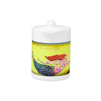 jaune sous-marin rose de sirène de mosaïque