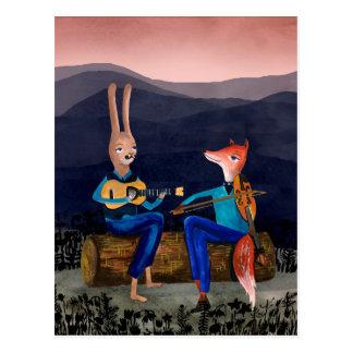 Jazz gitan - animaux mignons jouant la carte de