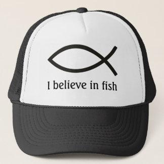 Je crois au casquette de poissons