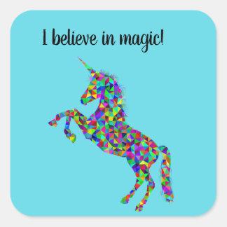 """""""Je crois en"""" autocollants magiques de licorne"""