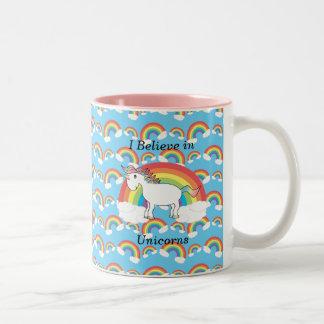 Je crois en licornes tasse 2 couleurs