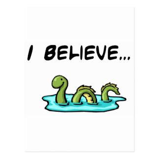 Je crois en monstre de Loch Ness Carte Postale