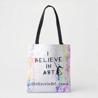 Je crois en promotionnel couru par aquarelle d'art tote bag