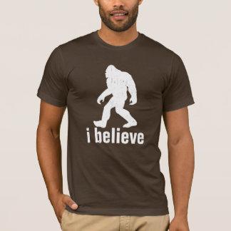 je crois - la silhouette blanche (distrssed) t-shirt
