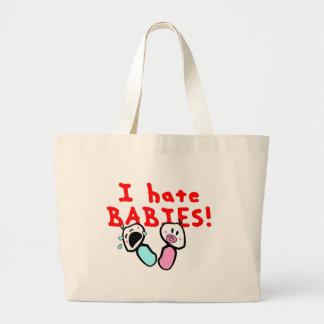 Je déteste des bébés ! sac en toile jumbo