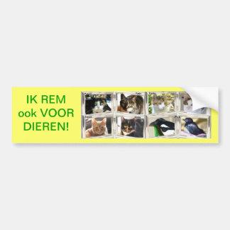 JE FREINE AUSSI POUR LES ANIMAUX ! AUTOCOLLANT DE VOITURE