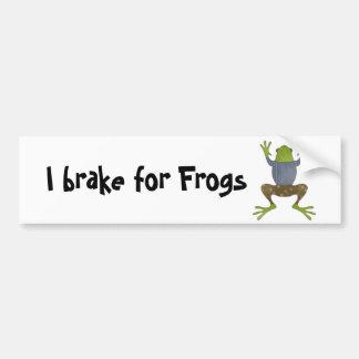 Je freine pour des grenouilles autocollant de voiture