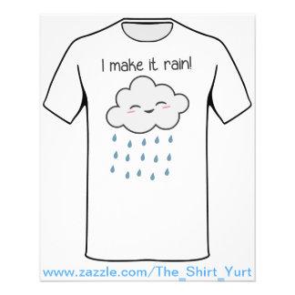 Je le fais pleuvoir le nuage de tempête mignon prospectus 11,4 cm x 14,2 cm