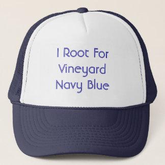 Je m'enracine pour le bleu marine de vignoble casquette