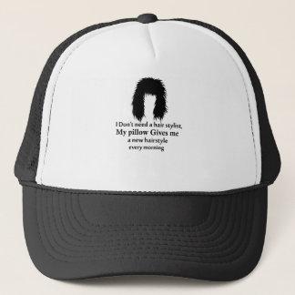 Je n'ai pas besoin d'un coiffeur, mon coussin me casquette