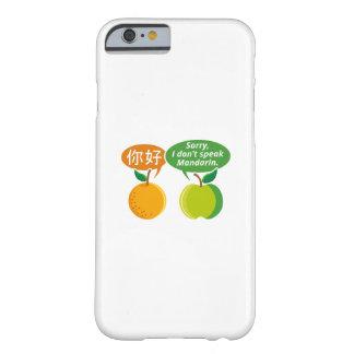 Je ne parle pas la mandarine coque iPhone 6 barely there