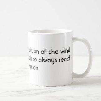 Je ne peux pas changer la direction du vent mug blanc