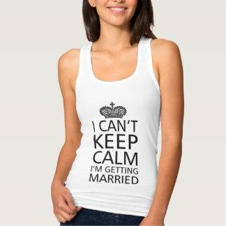 Je ne peux pas garder la palourde que je me marie débardeur