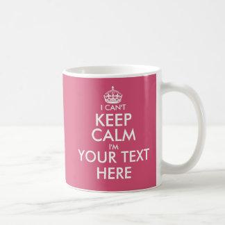 Je ne peux pas garder la tasse de café faite sur