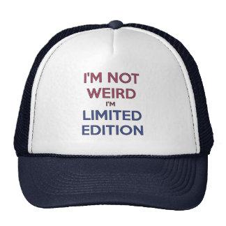 Je ne suis pas étrange je suis humour de casquette de camionneur