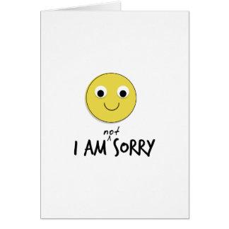 Je ne suis pas les cartes désolées