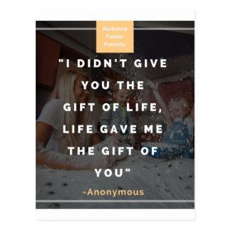 Je ne vous ai pas donné le cadeau de la vie, la carte postale