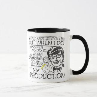 Je n'examine pas toujours mon code mug