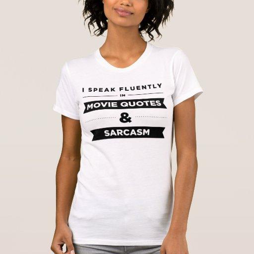 Je parle couramment dans des citations et le sarca t-shirt