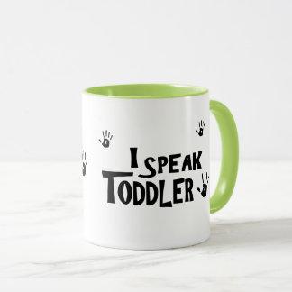 Je parle la tasse d'enfant en bas âge