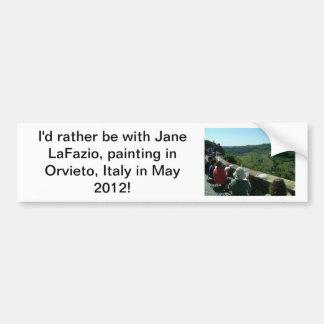 Je peindrais plutôt en Italie…. Autocollant Pour Voiture
