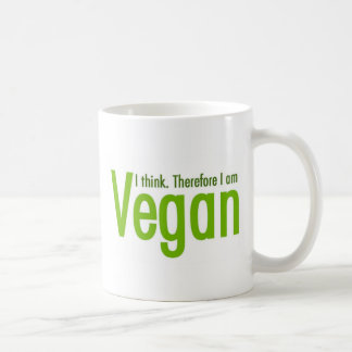 Je pense.  Par conséquent je suis végétalien Mug
