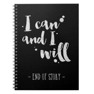 Je peux et je - journal inspiré carnets à spirale