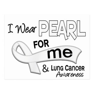 Je porte la perle pour moi cancer du poumon 42 carte postale
