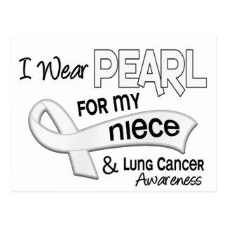 Je porte la perle pour mon cancer de poumon de la carte postale
