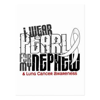 Je porte la perle pour mon cancer de poumon du carte postale