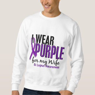 Je porte le pourpre pour mon lupus de l'épouse 10 sweatshirt