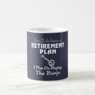 Je prévois sur jouer le banjo mug