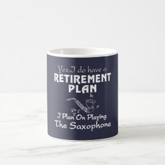 Je prévois sur jouer le saxophone mug
